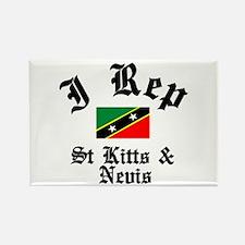 I rep St Kitts Rectangle Magnet