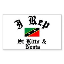 I rep St Kitts Rectangle Decal