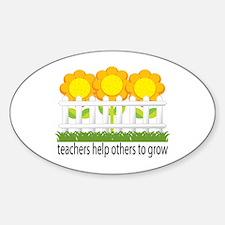 Flower Garden Teacher Oval Decal