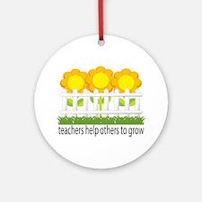 Flower Garden Teacher Ornament (Round)