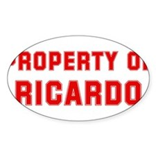 Property of RICARDO Oval Decal
