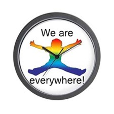 We Are Everywhere! Wall Clock