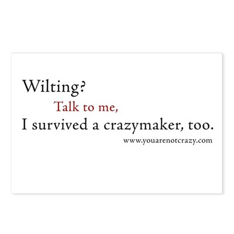 I survived a crazymaker Postcards (8 Pack)