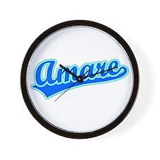 Retro Amare (Blue) Wall Clock