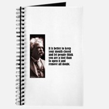 """Twain """"Mouth Closed"""" Journal"""