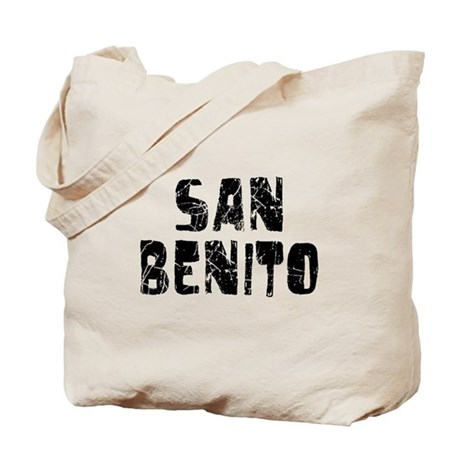 San Benito Faded (Black) Tote Bag