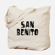 San Benito Faded (Black) Tote Bag