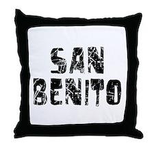 San Benito Faded (Black) Throw Pillow
