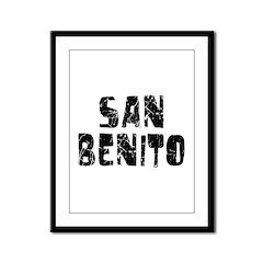 San Benito Faded (Black) Framed Panel Print