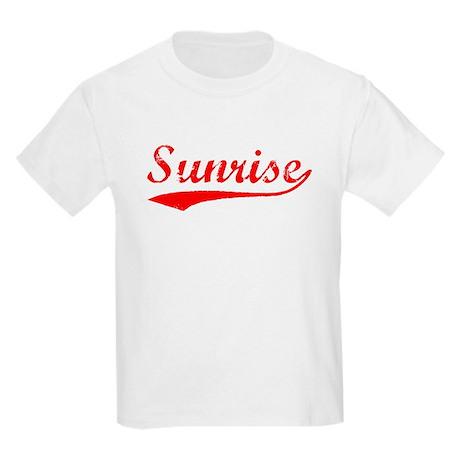 Vintage Sunrise (Red) Kids Light T-Shirt