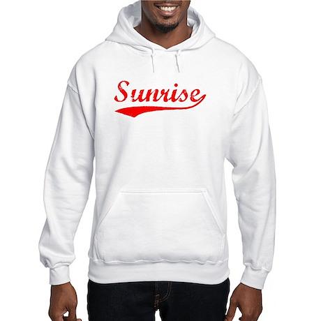 Vintage Sunrise (Red) Hooded Sweatshirt