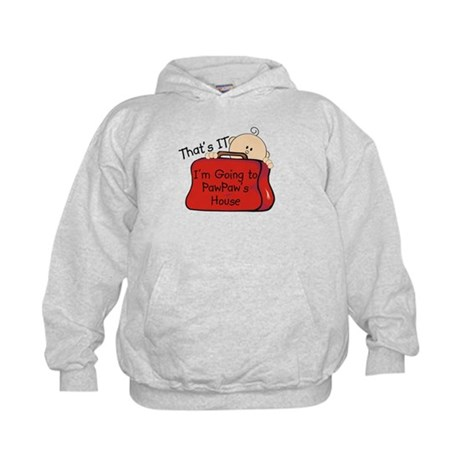 Going to PawPaw's Funny Kids Hoodie