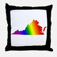 Virginia Gay Pride Throw Pillow