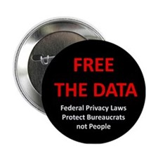 "Free The Data 3"" Lapel Sticker (48 pk)"