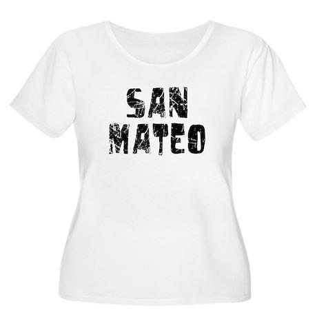 San Mateo Faded (Black) Women's Plus Size Scoop Ne