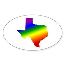 Texas Gay Pride Oval Decal