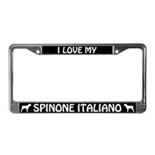 I Love My Spinone Italiano License Plate Frame