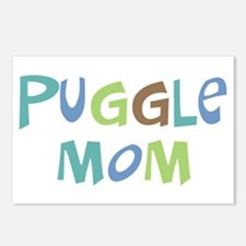 Puggle Mom (Text) Postcards (Package of 8)