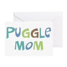 Puggle Mom (Text) Greeting Card