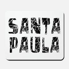 Santa Paula Faded (Black) Mousepad