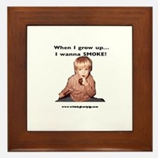Smoking is Cool! Framed Tile