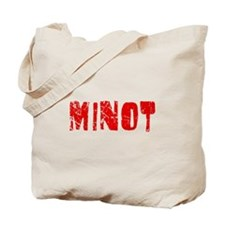 Minot Faded (Red) Tote Bag