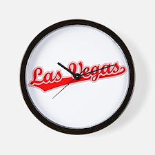 Retro Las Vegas (Red) Wall Clock