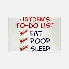 Jayden's To-Do List Rectangle Magnet
