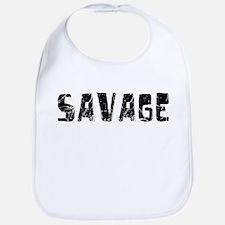 Savage Faded (Black) Bib