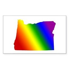 Oregon Gay Pride Rectangle Decal
