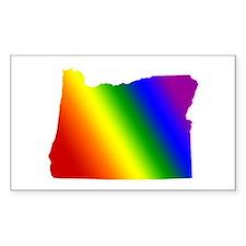Oregon Gay Pride Rectangle Stickers