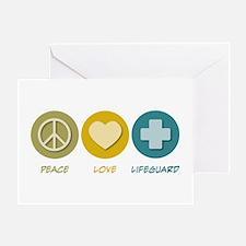 Peace Love Lifeguard Greeting Card