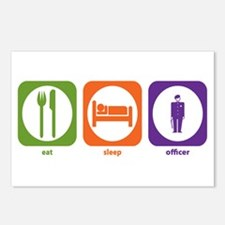 Eat Sleep Officer Postcards (Package of 8)