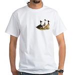 Crested Ducks Trio White T-Shirt
