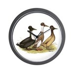 Crested Ducks Trio Wall Clock