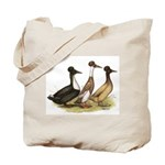 Crested Ducks Trio Tote Bag