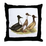 Crested Ducks Trio Throw Pillow