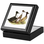 Crested Ducks Trio Keepsake Box