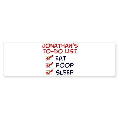 Jonathan's To-Do List Bumper Sticker