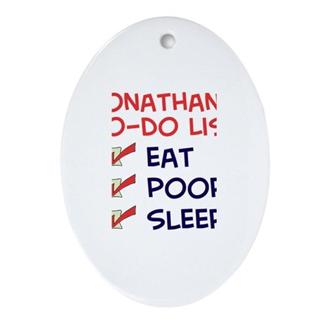 Jonathan's To-Do List Oval Ornament