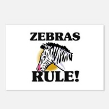 Zebras Rule! Postcards (Package of 8)