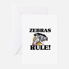 Zebras Rule! Greeting Cards (Pk of 10)
