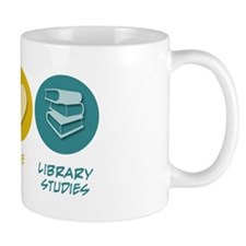 Peace Love Library Studies Mug