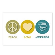 Peace Love Libraries Postcards (Package of 8)