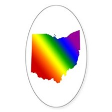 Ohio Gay Pride Oval Decal