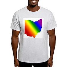 Ohio Gay Pride Ash Grey T-Shirt