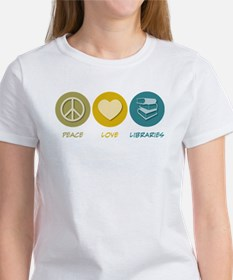Peace Love Libraries Tee