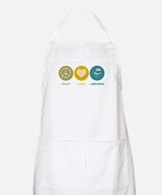 Peace Love Libraries BBQ Apron