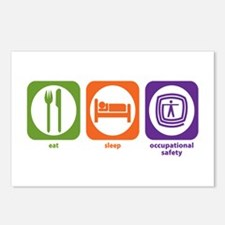 Eat Sleep Occupational Safety Postcards (Package o