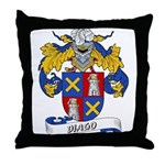 Diago Family Crest Throw Pillow